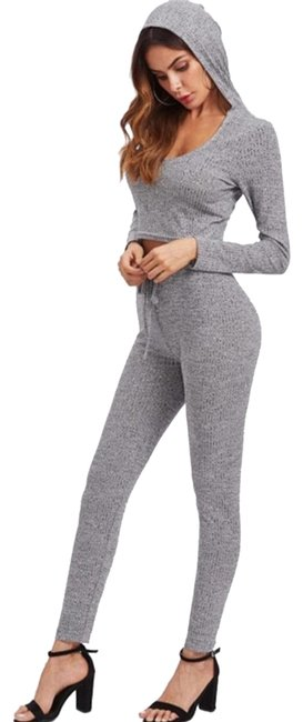 Preload https://img-static.tradesy.com/item/25252712/shein-rib-knit-marled-hoody-crop-topleggings-set-leggings-size-4-s-27-0-3-650-650.jpg