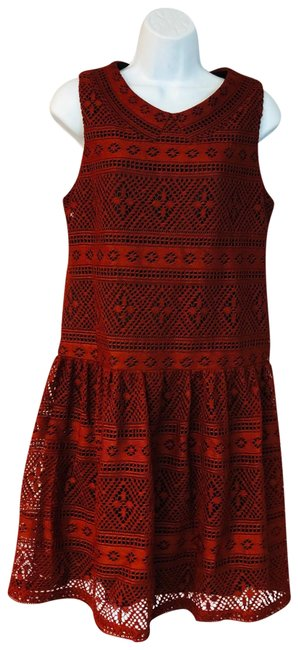 Preload https://img-static.tradesy.com/item/25252713/betsey-johnson-burgundy-open-knit-poly-short-casual-dress-size-12-l-0-1-650-650.jpg