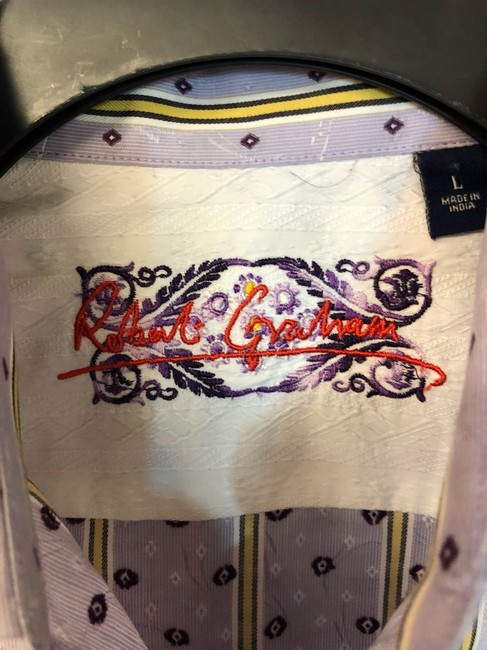 Robert Graham Shirt Button Down Shirt Lavender Image 3
