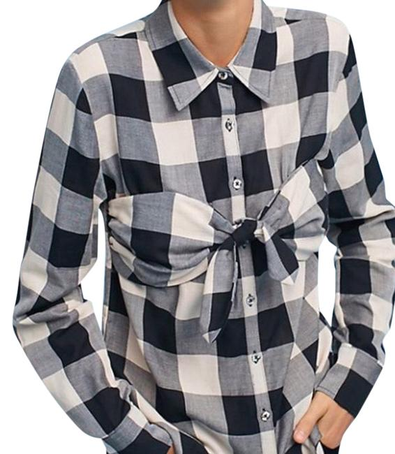 Preload https://img-static.tradesy.com/item/25252753/mara-hoffman-black-and-white-gingham-knotted-shirt-button-down-top-size-12-l-0-1-650-650.jpg