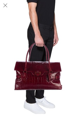 Salvatore Ferragamo Satchel in Burgundy Image 1
