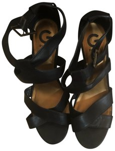 Guess Black/gold Wedges