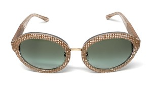 Tory Burch NEW TY 7128 1738/8E CRYSTAL / GREEN GRADIENT WOMEN'S AUTHENTIC 54-21