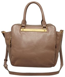 Marc by Marc Jacobs Tote Goodbye Columbus Satchel in ROOTBEER BROWN /GOLD HARDWARE
