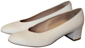 Mansur Gavriel Italian Leather Chunky White Pumps