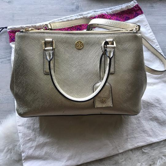 Tory Burch Satchel in Gold Image 1
