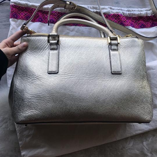 Tory Burch Satchel in Gold Image 4