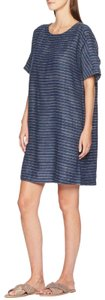 Eileen Fisher short dress Blue Linen on Tradesy