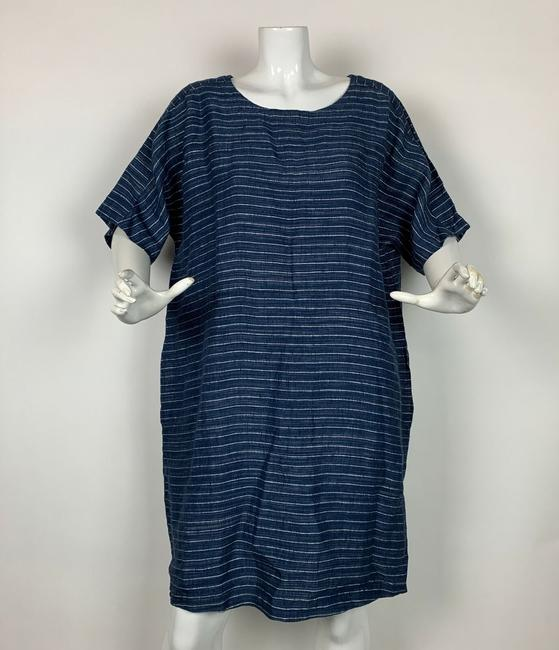 Eileen Fisher short dress Blue Linen on Tradesy Image 2