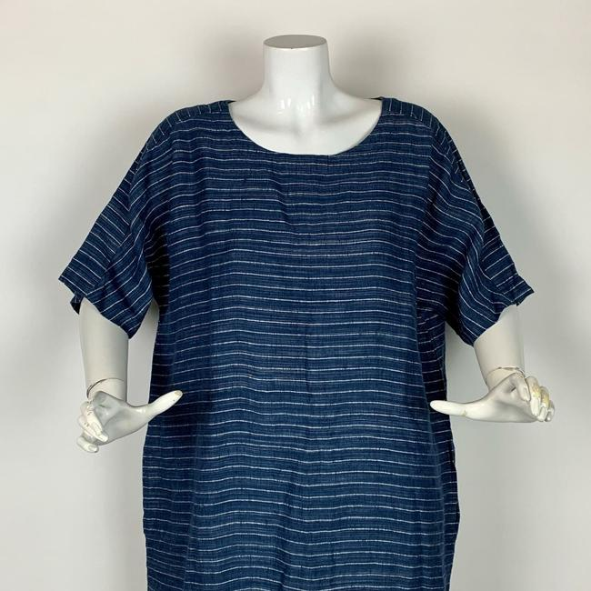 Eileen Fisher short dress Blue Linen on Tradesy Image 5