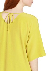Eileen Fisher short dress Yellow Viscose on Tradesy