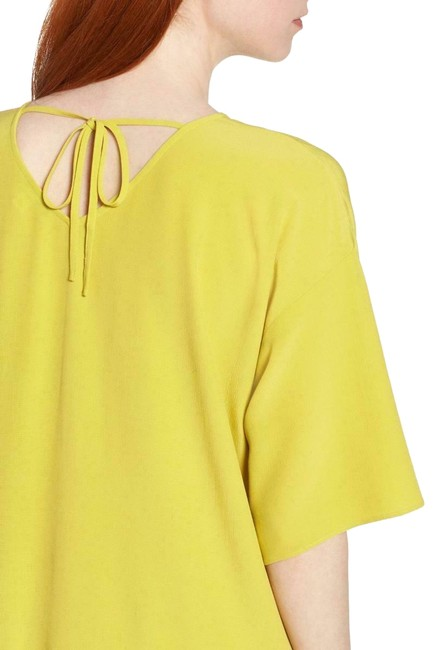 Preload https://img-static.tradesy.com/item/25252982/eileen-fisher-yellow-yarrow-tencel-viscose-crepe-drop-waist-mid-length-short-casual-dress-size-12-l-0-1-650-650.jpg