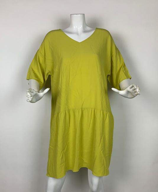 Eileen Fisher short dress Yellow Viscose on Tradesy Image 2