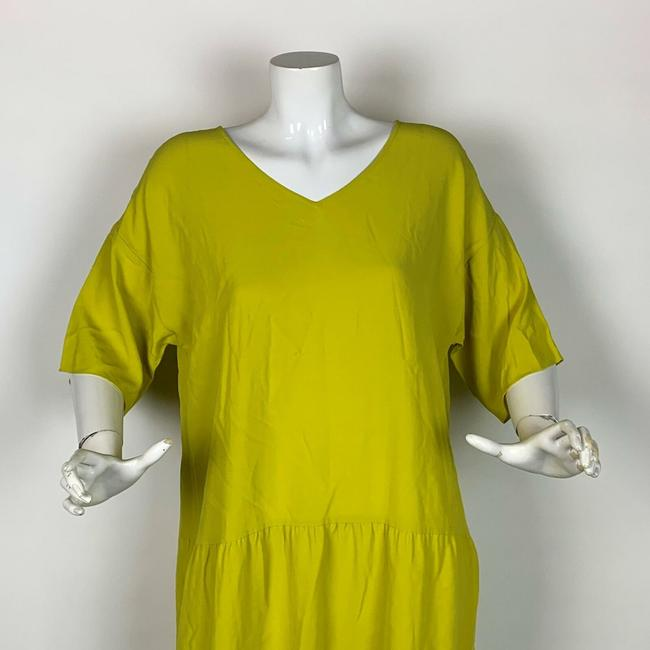 Eileen Fisher short dress Yellow Viscose on Tradesy Image 5