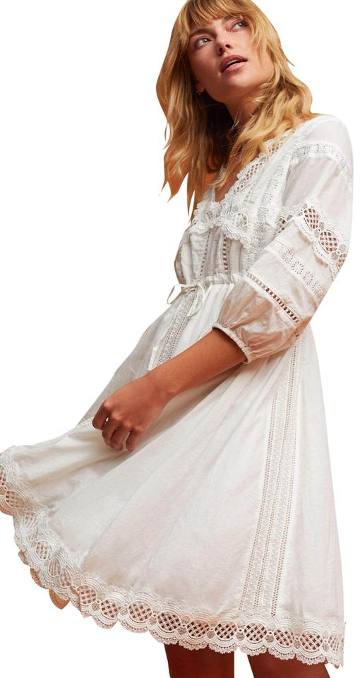 3a4148509cb7 Anthropologie short dress White Cotton Lace Trim on Tradesy Image 0 ...