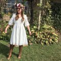 Anthropologie short dress White Cotton Lace Trim on Tradesy Image 7