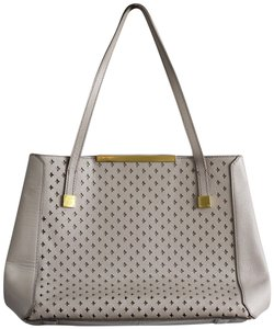 J.Crew Leather Large Satchel in Gray