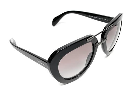 Prada NEW SPR 28R 1AB-0A7 BLACK / GREY GRADIENT WOMEN'S AUTHENTIC 52-22 Image 1