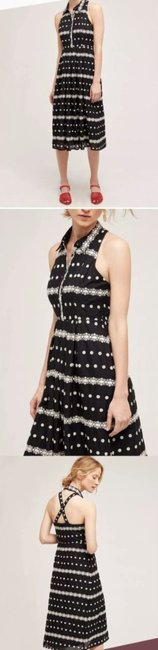 Black Maxi Dress by Anthropologie Embroidered Halter Image 1