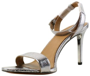 Tory Burch Pump Leather Pewter Sandals