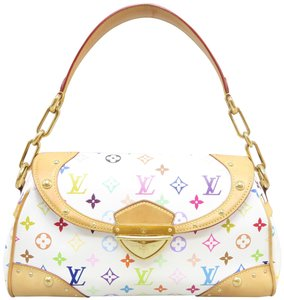 Louis Vuitton Multicolor Marilyn Canvas Satchel in White