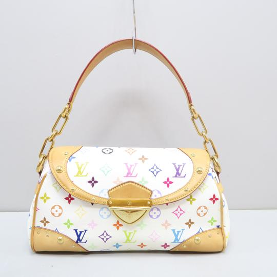 Louis Vuitton Multicolor Marilyn Canvas Satchel in White Image 1