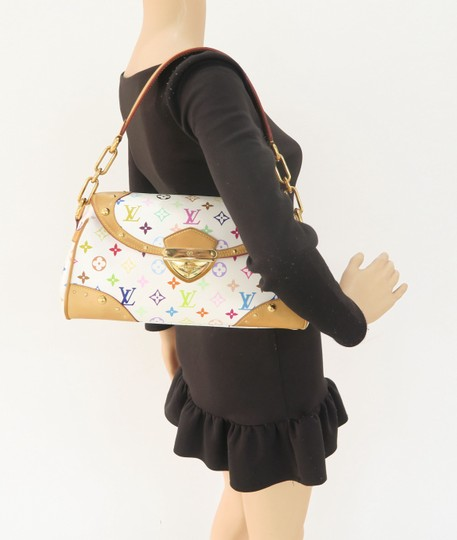 Louis Vuitton Multicolor Marilyn Canvas Satchel in White Image 11