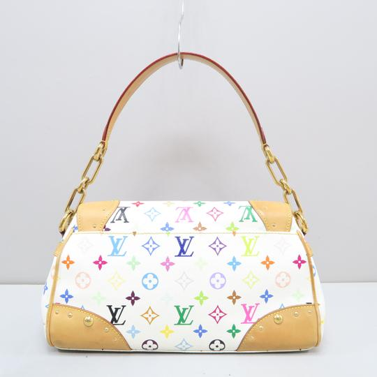 Louis Vuitton Multicolor Marilyn Canvas Satchel in White Image 2