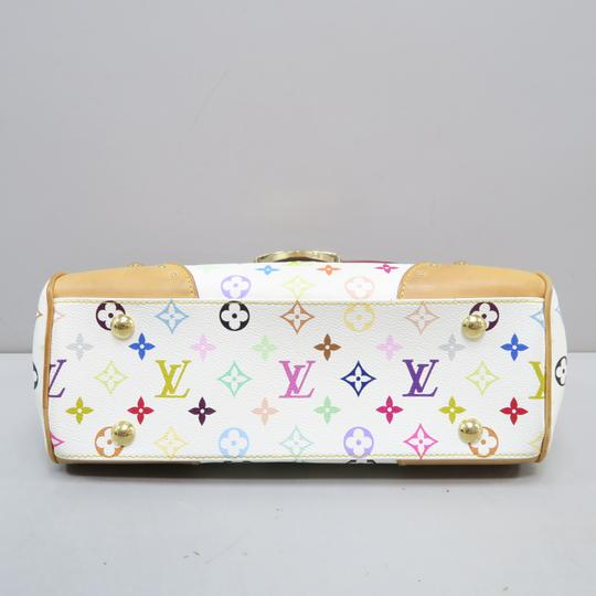 Louis Vuitton Multicolor Marilyn Canvas Satchel in White Image 3