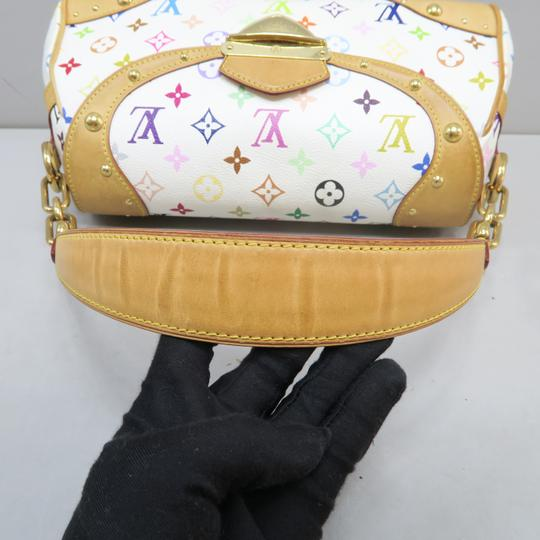 Louis Vuitton Multicolor Marilyn Canvas Satchel in White Image 5