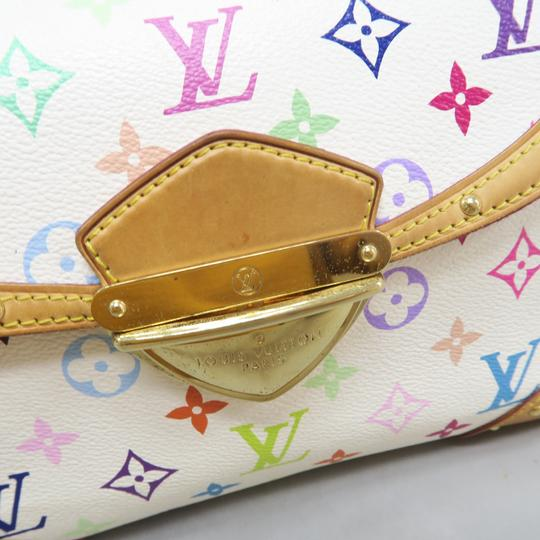 Louis Vuitton Multicolor Marilyn Canvas Satchel in White Image 7