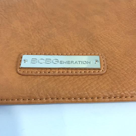 BCBGeneration Tan Clutch Image 2
