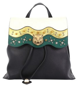 Gucci Leather Animalier Backpack