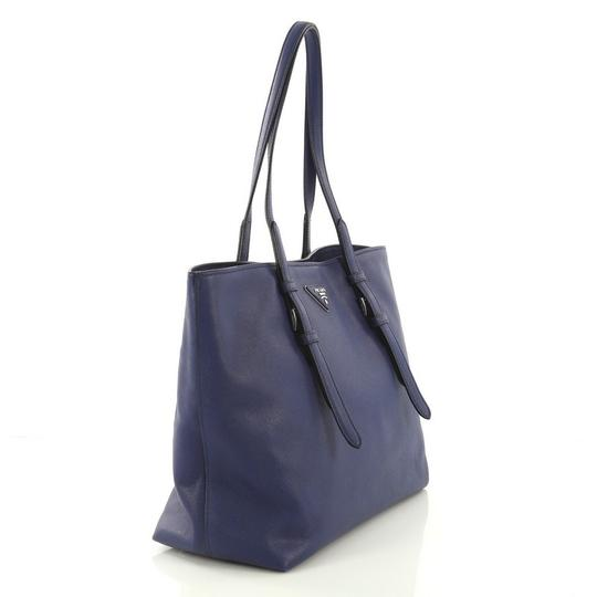 Prada Saffiano Leather Belted Tote in blue Image 2