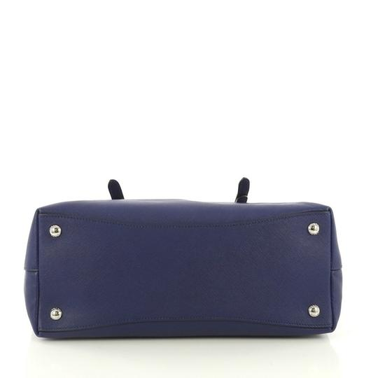Prada Saffiano Leather Belted Tote in blue Image 4