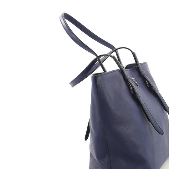 Prada Saffiano Leather Belted Tote in blue Image 5