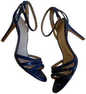Joie Sandals Strappy Open Heels Navy Pumps