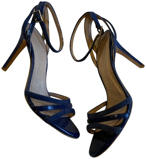 Preload https://img-static.tradesy.com/item/25253523/joie-navy-yvette-leather-suede-strappy-sandals-pumps-size-eu-37-approx-us-7-regular-m-b-0-1-540-540.jpg