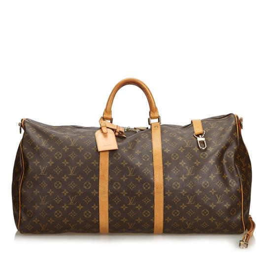 Preload https://img-static.tradesy.com/item/25253547/louis-vuitton-keepall-monogram-bandouliere-60-france-brown-coated-canvas-leather-weekendtravel-bag-0-0-540-540.jpg