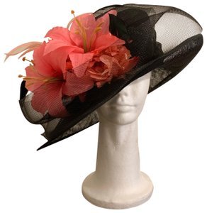 Dee's Gorgeous Black hat with pink accents