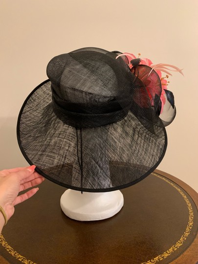 Dee's Gorgeous Black hat with pink accents Image 1