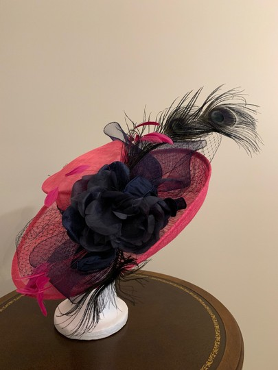 Dee's Pink hat with Navy accents Image 1
