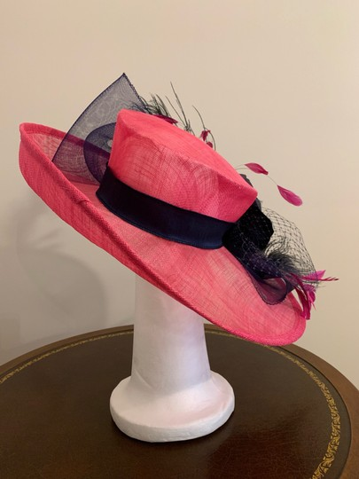 Dee's Pink hat with Navy accents Image 2