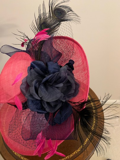Dee's Pink hat with Navy accents Image 3