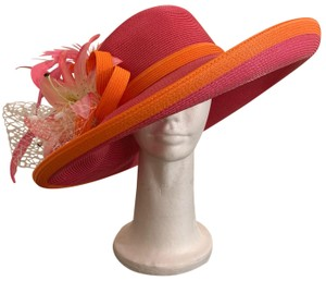 Dee's Pink hat with Orange trim and accents