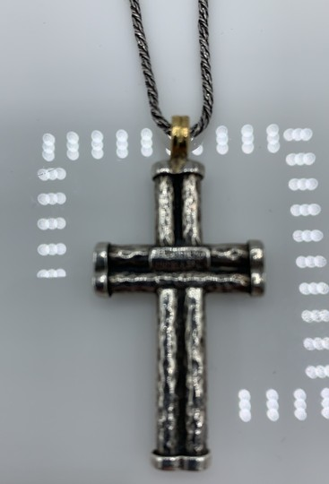 Konstantino Konstantino Silver Necklace and Cross Pendant Image 2