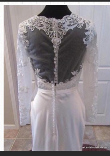 Private Label by G White Collection Traditional Wedding Dress Size 8 (M) Image 3