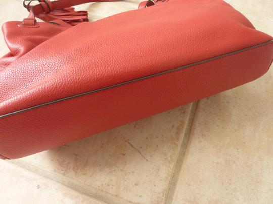 Tory Burch Leather Casual Logo Tote in Red Image 5
