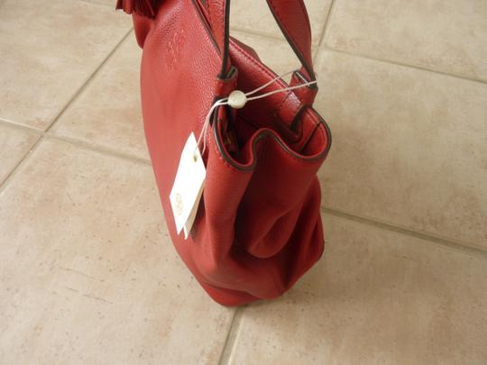 Tory Burch Leather Casual Logo Tote in Red Image 7
