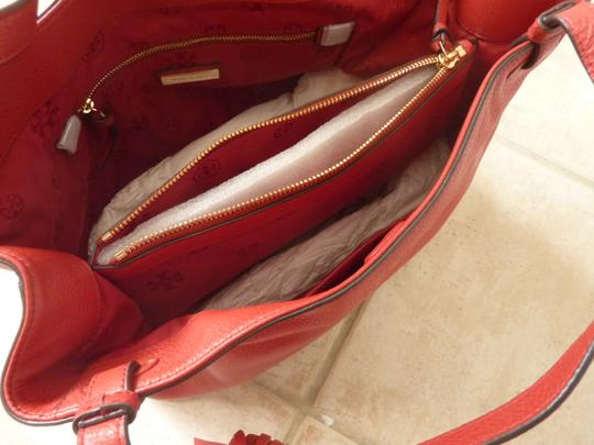 Tory Burch Leather Casual Logo Tote in Red Image 8